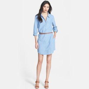 Joie   Tarellia Denim Button-down Belted Dress